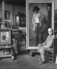 Jacob Dooyewaard in atelier